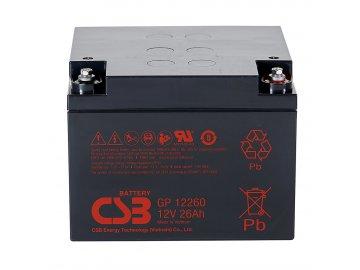 Batéria CSB GP12260, 12V, 26Ah