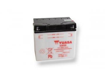 Motobatéria YUASA (originál) 53030, 12V,  30Ah  dodávané vrátane balenia akumulátorovej kyseliny