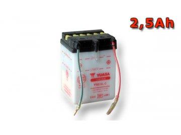 Motobaterie YUASA (originál) YB2,5L-C, 12V,  2,5Ah  dodávané vrátane balenia akumulátorovej kyseliny