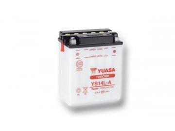 Motobaterie YUASA (originál) YB14L-A, 12V,  14Ah  dodávané vrátane balenia akumulátorovej kyseliny