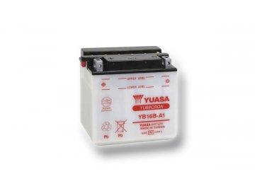 Motobatéria YUASA (originál) YB16B-A1, 12V,  16Ah  dodávané vrátane balenia akumulátorovej kyseliny