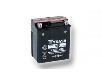 Motobaterie YUASA (originál) YTX7L-BS, 12V,  6Ah  dodávané vrátane balenia akumulátorovej kyseliny