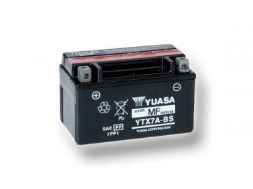 Motobaterie YUASA (originál) YTX7A-BS, 12V,  6Ah  dodávané vrátane balenia akumulátorovej kyseliny