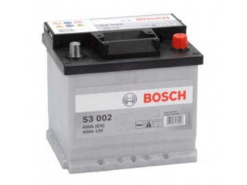 Autobaterie BOSCH S3 002, 45Ah, 12V (0 092 S30 020)
