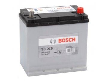Autobaterie BOSCH S3 016, 45Ah, 12V (0 092 S30 160)