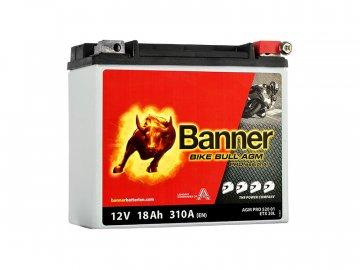 Motobatéria Banner Bike Bull AGM PRO ETX 20L, 18Ah, 12V (YTX20L-BS)