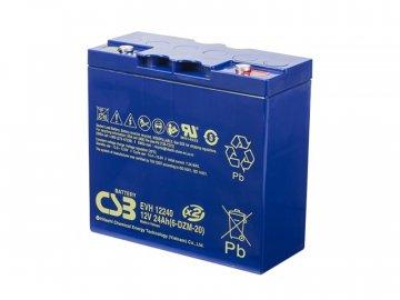 Batérie CSB EVH12240 (6-DZM-20), 12V, 24Ah