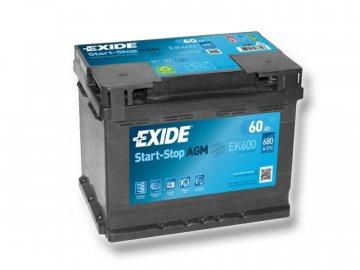 Autobatérie EXIDE START-STOP AGM 60Ah, 12V, EK600