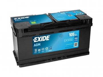 Autobatérie EXIDE START-STOP AGM 105Ah, 12V, EK1050