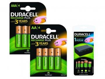 DURACELL nabíječka pro AA/AAA/C/D a 1x9V (BUN0073A-EU) + baterie
