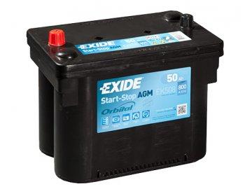 Autobaterie EXIDE START-STOP AGM 50Ah, 12V, EK508