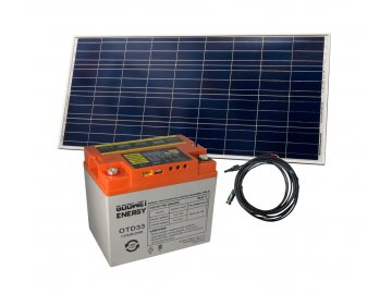 Set batéria GOOWEI ENERGY OTD33 (33Ah, 12V) a solárny panel Victron Energy 115Wp/12V