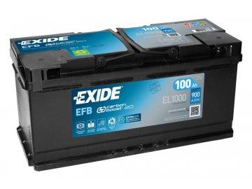 Autobaterie EXIDE START-STOP EFB 100Ah, 12V, EL1000