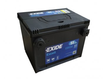 Autobaterie EXIDE Excell 55Ah, 12V, EB558