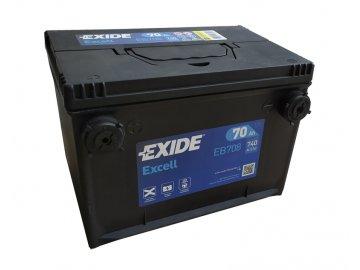 Autobatéria EXIDE Excell 70Ah, 12V, EB708