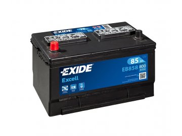 Autobaterie EXIDE Excell 85Ah, 12V, EB858