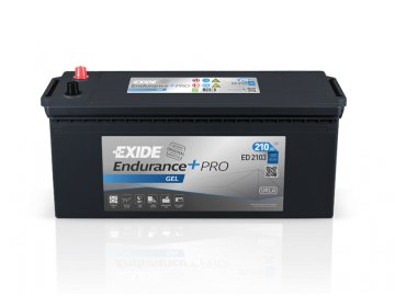 Autobaterie EXIDE EndurancePRO GEL 210Ah, 12V, ED2103
