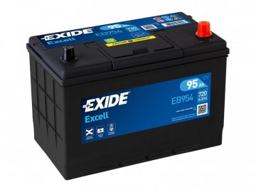 Autobaterie EXIDE Excell 95Ah, 12V, EB954