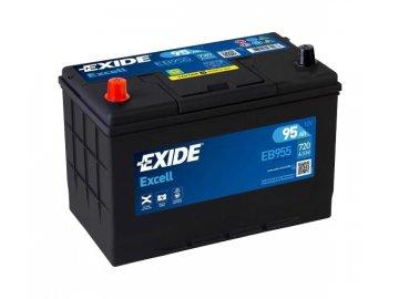 Autobaterie EXIDE Excell 95Ah, 12V, EB955