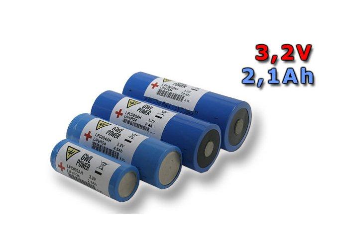 Lithium Yttrium - LiFePO4/LiFeYPO4 válcový tvar 3.2V, 2.1Ah