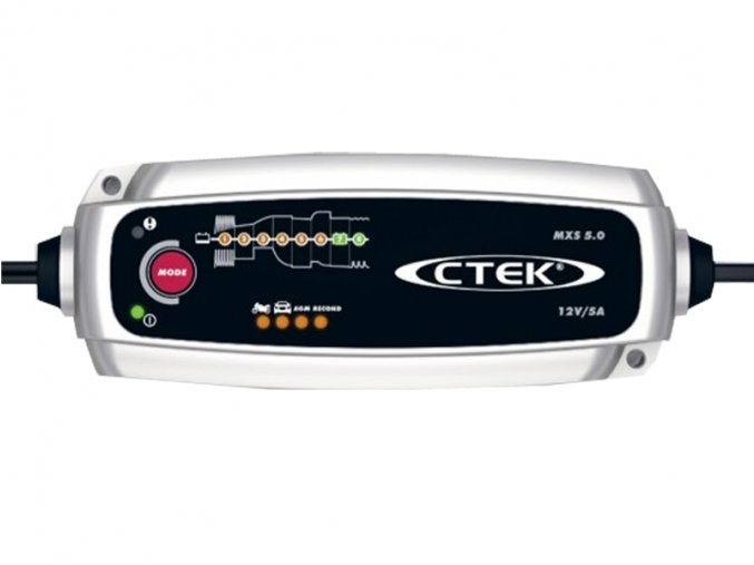 Nabíječka CTEK MXS 5.0 NEW 12V 0.8A/5A s teplotním čidlem