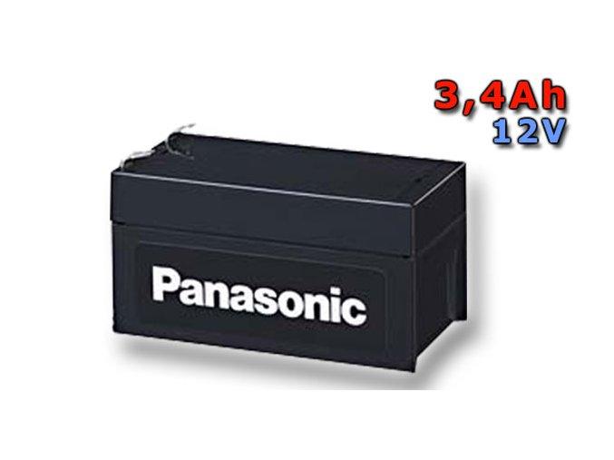 Staniční (záložní) baterie PANASONIC LC-P123R4P, 3,4Ah, 12V