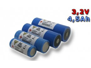 Lithium Yttrium - LiFePO4/LiFeYPO4 válcový tvar 3.2V, 4.5Ah