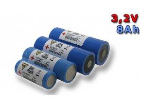 Lithium Yttrium - LiFePO4/LiFeYPO4 válcový tvar 3.2V, 8Ah