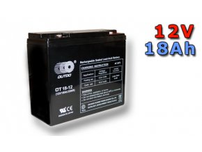 Staniční (záložní) baterie GOOWEI ENERGY OT18-12, 18Ah, 12V  ( VRLA )