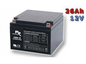 Staniční (záložní) baterie GOOWEI ENERGY OT26-12, 26Ah, 12V ( VRLA )