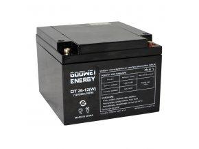 Trakčná (GEL) baterie Goowei OTL26-12, 26Ah, 12V