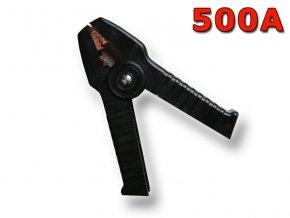 Kleště bateriové 500A, černé, 170mm