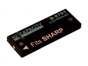 Baterie do fotoaparátu Sanyo XactiDMX-HD1/XactiDMX-HD1A/XactiPVC-HD1EX/XactiVPC-HD1/XactiVPC-HD1EX/XactiVPC-HD700, 1200mAh, 3.7V, DBI8708A