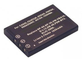 Baterie do fotoaparátu Kodak/Olympus LS743/LS753/One/P712/P850/P880/Z730/Z7590/Z760/AZ-1, 1100mAh, 3.7V, DBI9583A