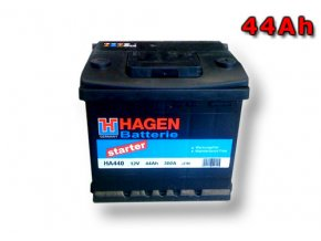 Autobaterie HAGEN 44Ah, 12V, HA440