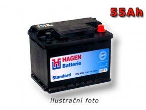 Autobaterie HAGEN 55Ah, 12V, HA551