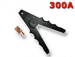 Kleště bateriové 300A, černé, 160mm