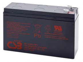 Batéria CSB HR1224W F2F1, 6,4Ah, 12V