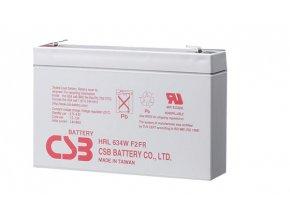 Batéria CSB HRL634W F2, 6V, 9Ah