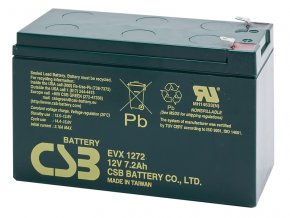 Batéria CSB EVX1272 F2, 7,2Ah, 12V