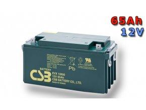 Batéria CSB EVX12650, 65Ah, 12V
