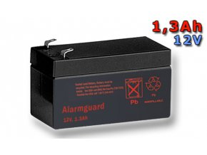 Staniční (záložní) baterie ALARMGUARD CJ12-1.3, 1,3Ah, 12V