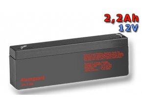 Staniční (záložní) baterie ALARMGUARD CJ12-2.2, 2,2Ah, 12V