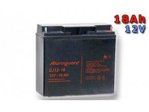 Staniční (záložní) baterie ALARMGUARD CJ12-18, 18Ah, 12V