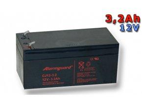 Staniční (záložní) baterie ALARMGUARD CJ12-3,2 3,2Ah 12V