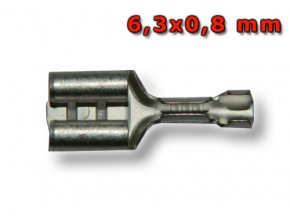 Faston zásuvka FH63X08M1  6,3x0,8 mm; 0,5-1 mm2; stříbrný