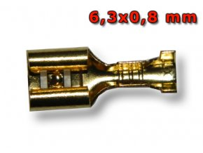 Faston zásuvka FS7048-BS 6,3x0,8 mm; 1,5-2,5 mm2; zlatý