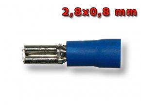 Faston zásuvka FH28x05BL 2,8x0,8 mm; 1,5-2,5 mm2; modrý