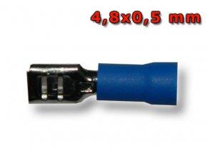 Faston zásuvka FH48x05BL 4,8x0,5 mm; 1,5-2,5 mm2; modrý