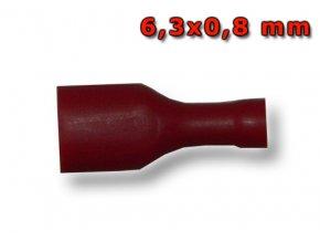 Faston zásuvka FH2250BL 6,3x0,8 mm; 0,5-1,5 mm2; plný červený